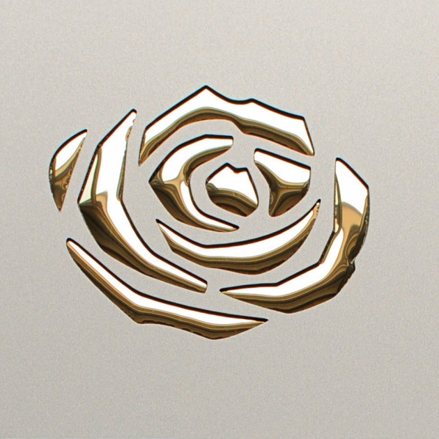 Roses Champagne PF met/ Gold